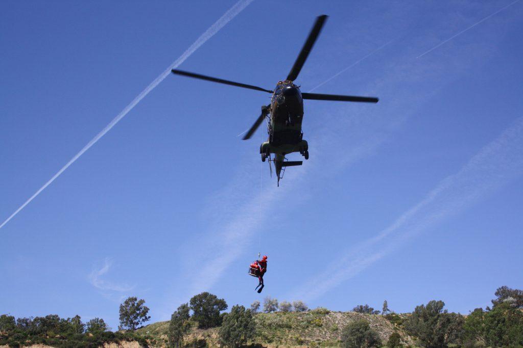 Rescate helitransportado